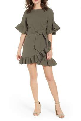 1 STATE 1.State Ruffle Faux Wrap Dress
