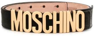 Moschino velvet logo belt