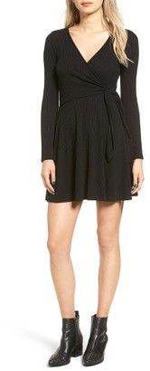 Women's Everly Rib Knit Wrap Dress $45 thestylecure.com