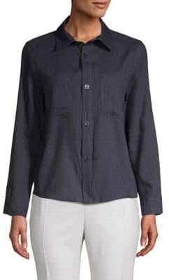 A.P.C. Nancy Linen-Blend Button-Down Shirt