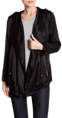 Splendid Slub Satin Drap Collar Jacket