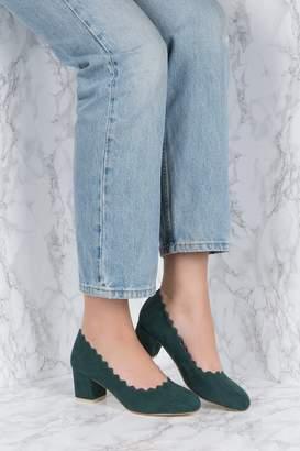 Na Kd Shoes Scalloped Edge High Heel