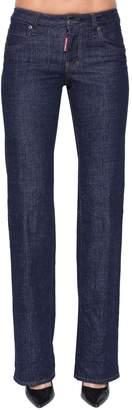 DSQUARED2 Lauren Mid Rise Cotton Denim Jeans