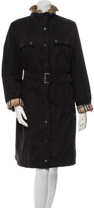 Burberry Fur-Trimmed Belted Coat $490 thestylecure.com