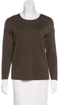 J Brand Scoop Neck Long Sleeve Top