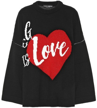 Dolce & Gabbana Is Love cashmere sweater