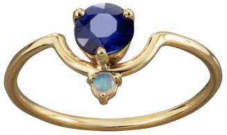 WWAKE Nestled Sapphire and Opal Ring