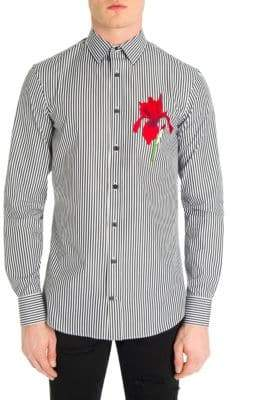 Alexander McQueen Embroidered Button-Down Shirt