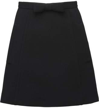 Miu Miu (ミュウミュウ) - Miu Miu A-line bow skirt