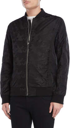Karl Lagerfeld Black Camo Jacquard Bomber Jacket