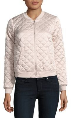Kensie Love Poetry Quilted Bomber Jacket $99 thestylecure.com