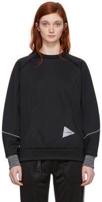 and Wander Black Bonding Mesh Pullover Sweatshirt