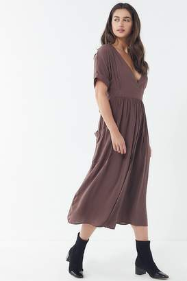 Urban Outfitters Gloria Midi Wrap Dress