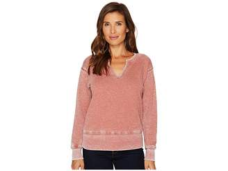Allen Allen Split-Neck Sweatshirt Women's Sweatshirt
