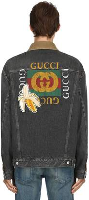 Gucci Vintage Logo Washed Denim Jacket