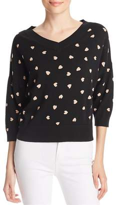 Kate Spade Heartbeat Patterned Sweater