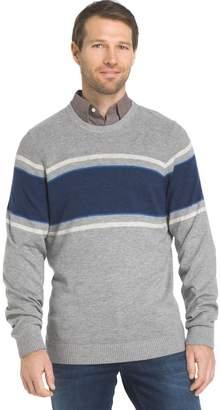 Izod Men's Regular-Fit Striped Wool-Blend Crewneck Sweater