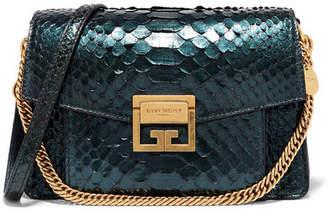 Givenchy Gv3 Small Python Shoulder Bag - Green