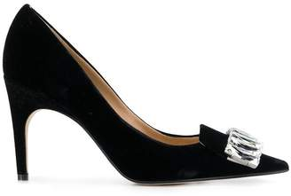 Sergio Rossi crystal embellished pumps a