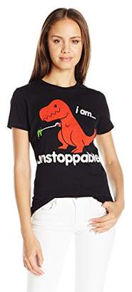 Goodie Two Sleeves Juniors' Dinosaur I Am Unstoppable Graphic T-Shirt