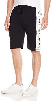 Calvin Klein Jeans Men's Color Block Vertical Logo Shorts