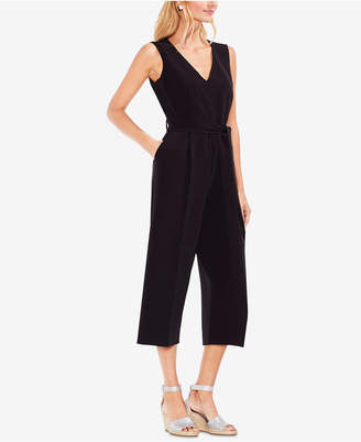 Vince Camuto Sleeveless Belted Wide-Leg Jumpsuit