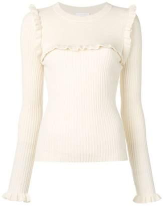 See by Chloe ruffle knit sweater