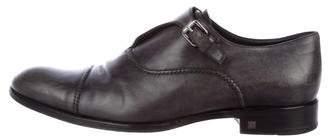 Louis Vuitton Leather Monk Strap Shoes