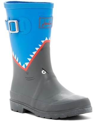 Joules Shark Print Welly Waterproof Rain Boot (Toddler, Little Kid, & Big Kid)