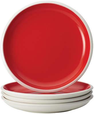Rachael Ray Dinnerware Rise 4-Piece Red Stoneware Salad Plate Set