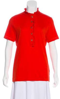 Tory Burch Ruffle-Trimmed Button-Up Top