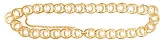 Chloé Logo Plaque Gold Tone Chain Link Belt - Womens - Gold