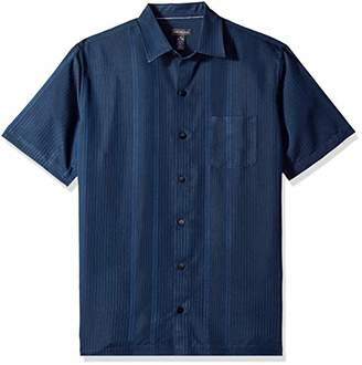 Van Heusen Men's Big Air Stripe Short Sleeve Button Down Shirt
