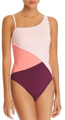 Bleu Rod Beattie Around The Block Asymmetric One Piece Swimsuit