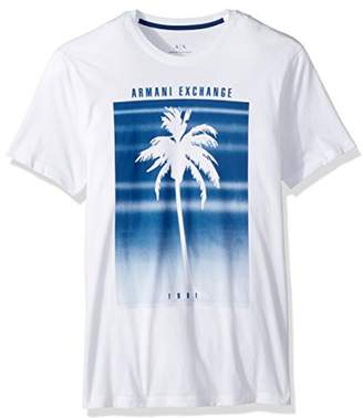 Armani Exchange A|X Men's Palm Tree Fading Graphic Tee