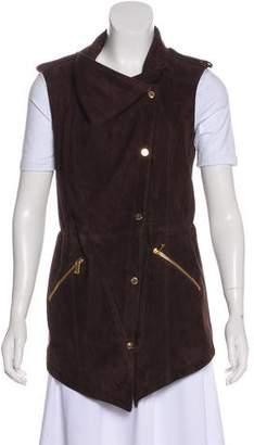 Michael Kors Suede Button-Up Vest