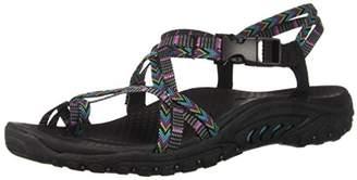 Skechers Women's Reggae-Islander-Multi-Strap Toe Thong Slingback Sandal