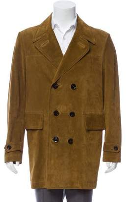 Tom Ford Suede Leather Overcoat