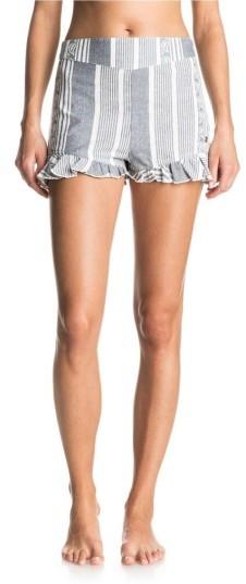 Women's Roxy All Perfect Cotton Ruffle Hem Shorts