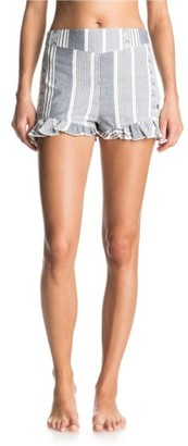 Women's Roxy All Perfect Cotton Ruffle Hem Shorts $44.50 thestylecure.com