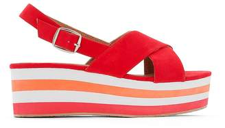 La Redoute Collections Platform Sandals with Crossover Straps