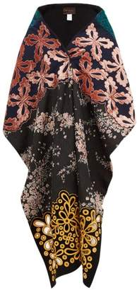 Biyan Floral Applique And Brocade Shawl - Womens - Pink