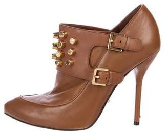 Gucci Leather Studded Booties