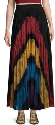 Alice + Olivia Women's Romona Pleated Maxi Skirt