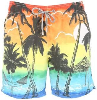 MC2 Saint Barth Barbados Sunset Micro Fiber Swim Shorts