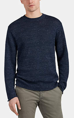 Inis Meain Men's Mélange Linen Crewneck Sweater - Navy