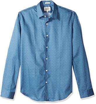 Casual Terrains Men's Tailored Slim-Fit Hipster-Style Printed Vintage Dress Shirt .