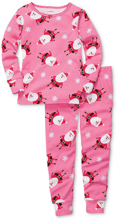 Carter's Baby Pajamas, Baby Girls 2-Piece Santa PJs