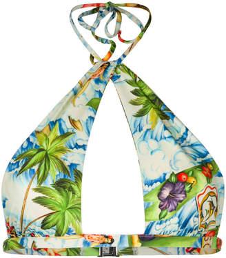 DSQUARED2 tropical print bikini top