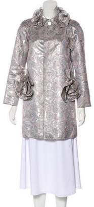 Marc Jacobs Metallic Jacquard Coat